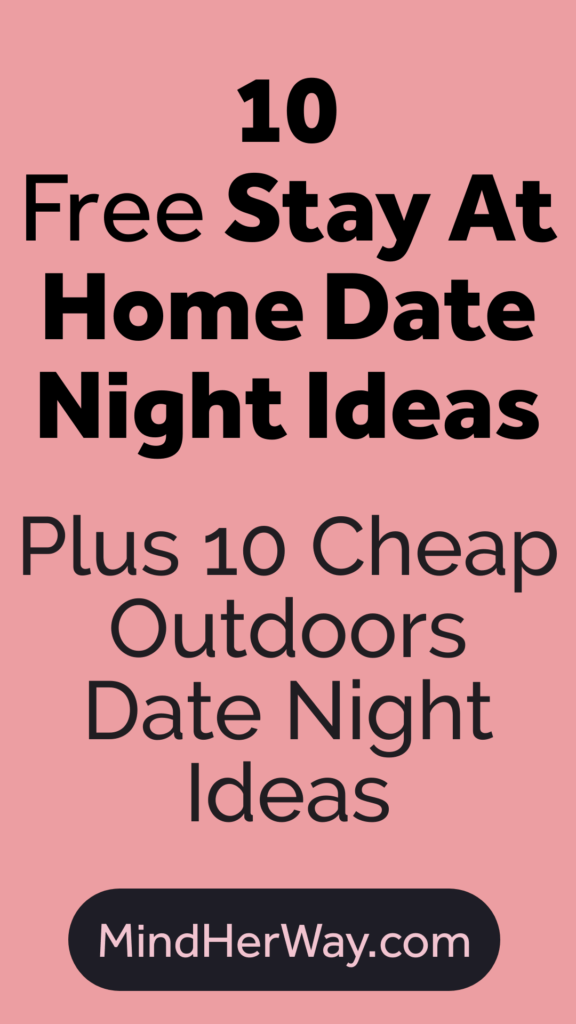 Cheap date night ideas including stay at home date nights