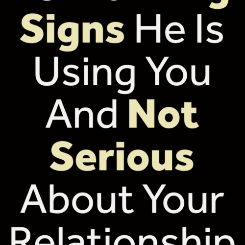Warning signs he is using you