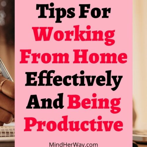 Tips for working from home and being productive at home