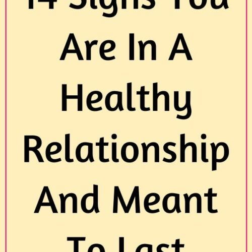 14 Signs Of A Healthy Relationship