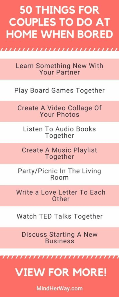 Things For Couples To Do At Home When Bored